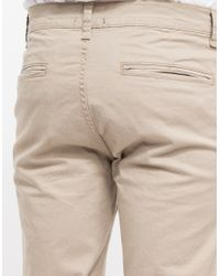 TOPMAN - Natural Chinchilla Stretch Skinny Chino for Men - Lyst