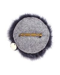 Yves Salomon | Purple Fox Face Fur Pin Badge | Lyst