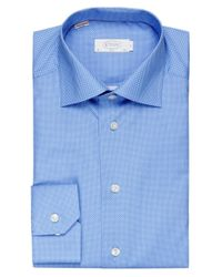 Eton of Sweden | Blue Slim Fit Dot Shirt for Men | Lyst