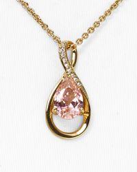 Carolee | Metallic Uptown Recolor Blue 'y' Pendant Necklace | Lyst