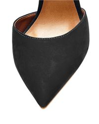 Steve Madden | Black Raela Leather Tie Pumps | Lyst
