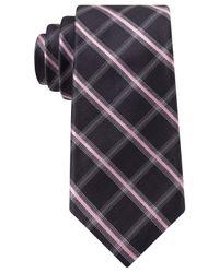Michael Kors | Purple Michael Barcelona Grid Slim Tie for Men | Lyst