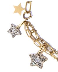 Lanvin | Metallic Gold-tone Elsie Star And Moon Pendant Necklace | Lyst