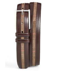Mezlan - Brown Leather & Suede Belt for Men - Lyst