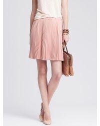 Banana Republic | Pink Soft Pleated Skirt | Lyst