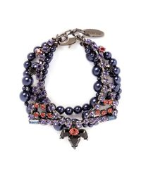 Joomi Lim - Multicolor 'Rebel Romance' Crystal Pearl Bracelet - Lyst