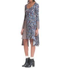 Plenty by Tracy Reese - Multicolor Scarf Hem Midi Dress - Lyst