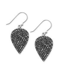 Lucky Brand | Metallic Silvertone Guitar Pick Earrings | Lyst