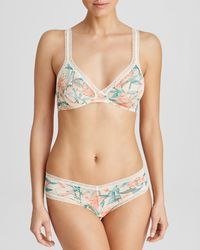 Calvin Klein   Floral Bralette - Desire Tiger Lily Retro Triangle #qf1152   Lyst