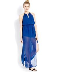 Forever 21 - Blue Goddess Moment Maxi Dress - Lyst