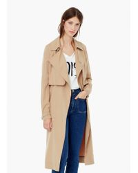 Mango | Natural Flowy Trench | Lyst