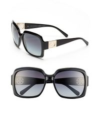 Tory Burch | Black 59mm Polarized Sunglasses | Lyst