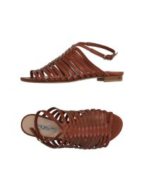 The Seller - Brown Sandals - Lyst