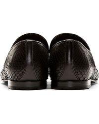 Jimmy Choo | Black Snakeskin Sloane Loafers | Lyst