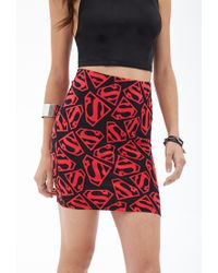 Forever 21 - Black Superman Bodycon Skirt - Lyst