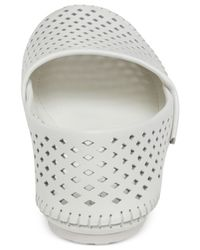 BCBGeneration - White Xeno2 Perforated Flats (Only At Macy'S) - Lyst