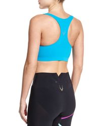 Lucas Hugh - Blue Technical Knit Racerback Sports Bra - Lyst