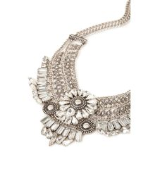 Forever 21 - Metallic Mixed Chain Bib Necklace You've Been Added To The Waitlist - Lyst