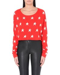 Wildfox | Red Billy Angora-blend Sweater | Lyst