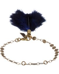 Isabel Marant - Blue Brass and Feather Dodge Bracelet - Lyst