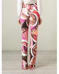 Emilio Pucci - Purple High Waist Printed Trousers - Lyst