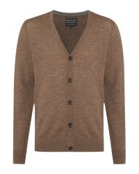 Howick | Brown Arlington 100% Lambswool Cardigan for Men | Lyst