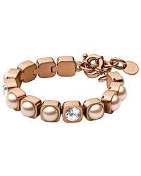 Dyrberg/Kern | Metallic Dyrberg/kern Swarovski Crystal Tennis Bracelet | Lyst
