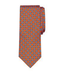 Brooks Brothers - Gray Diamond Link Print Tie for Men - Lyst