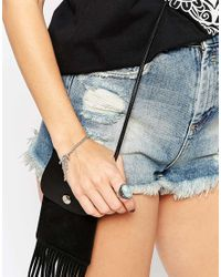 ASOS - Metallic Double Spike Chain Bracelet - Lyst