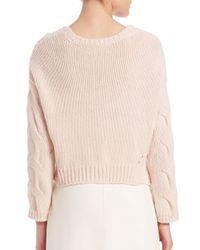 Tess Giberson - Pink Exaggerated Cropped Sweater - Lyst
