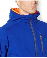 Polo Ralph Lauren | Blue Full-zip Fleece Hoodie for Men | Lyst