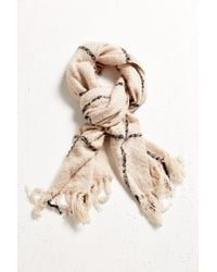 Urban Outfitters - Natural Brushed Plaid Blanket Scarf - Lyst