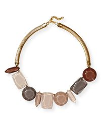 Lafayette 148 New York | Multicolor Large Mixed-stone Collar Necklace | Lyst