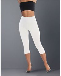 Lyssé | White Capri Stretch Cotton Shaping Leggings | Lyst
