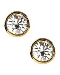 Givenchy | Metallic 10kt. Gold Plated Crystal Stud Earrings | Lyst