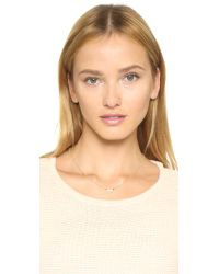 Elizabeth and James | Metallic Klint Necklace - Clear/gold | Lyst