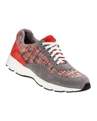 J/Slides - Gray Jogger Wedge Sneaker Coral/Grey Suede - Lyst