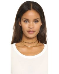 Lady Grey - Metallic Contour Collar Necklace - Gold - Lyst