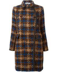 Sacai Luck - Brown Tweed Coat - Lyst