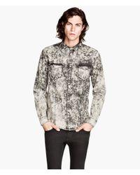 H&M | Black Denim Shirt for Men | Lyst