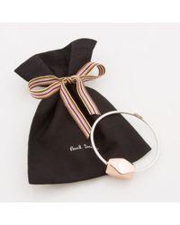 Paul Smith - Metallic Women's Silver Bracelet With Copper Facet Bead - Lyst