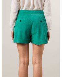 Paul by Paul Smith | Green Perforated Shorts | Lyst