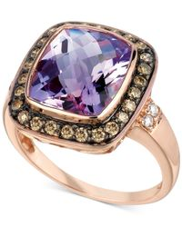 Le Vian | Purple ® Amethyst (4-1/2 Ct. T.w.) And Diamond (1/3 Ct. T.w.) Ring In 14k Rose Gold | Lyst