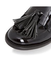 Dune | Black Gloria Mid Heel Block Loafers | Lyst