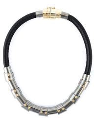 Lanvin | Black Choker Necklace | Lyst