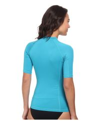 Rip Curl - Blue Surf Team Short Sleeve Rashguard - Lyst