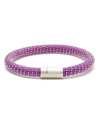 Carolina Bucci   Purple 18kt Gold-plated Sterling Silver Twisted Bracelet   Lyst