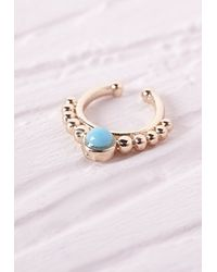 Missguided | Blue Nose Cuff Turquoise Stone | Lyst