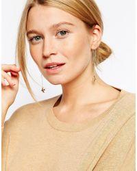 ASOS - Metallic Fine Swallow Through Earrings - Lyst