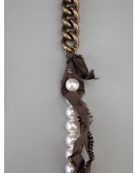 Lanvin | White Brass and Pearl Necklace | Lyst